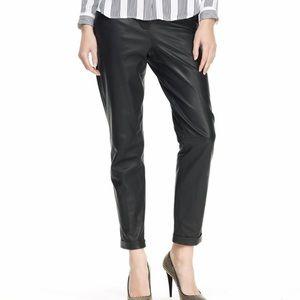 """Theory """"Kanga"""" 100% Lamb Leather black Pants"""